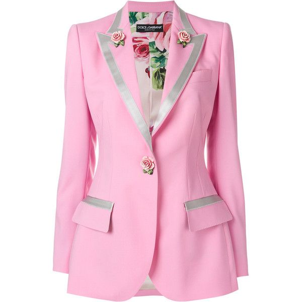 5a01d85b446 Dolce & Gabbana Single Breasted blazer with Small Roses ($2,594) ❤ liked on Polyvore  featuring outerwear, jackets, blazers, floral blazer, summer blazer, ...