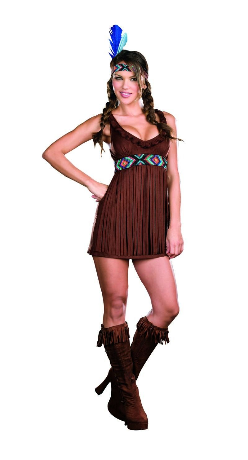 Sexy Tribal Trouble Native American Adult Costume At Toynk Toys