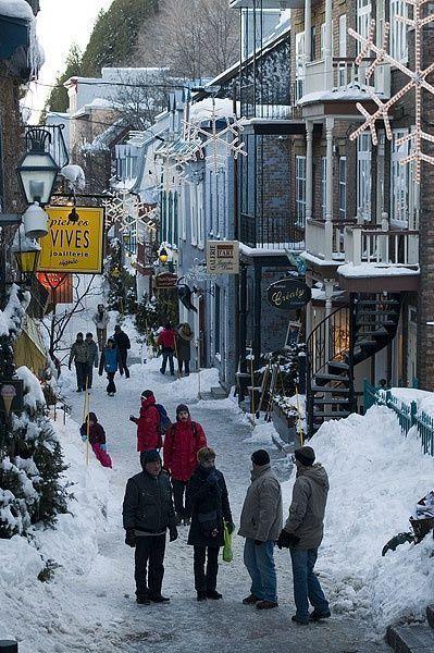 Winter In Old Quebec City Quebec City Winter Quebec City Canada Canada Travel