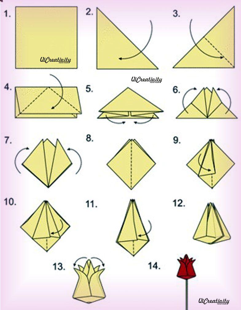 Как сделать тюльпан из бумаги оригами фото 416