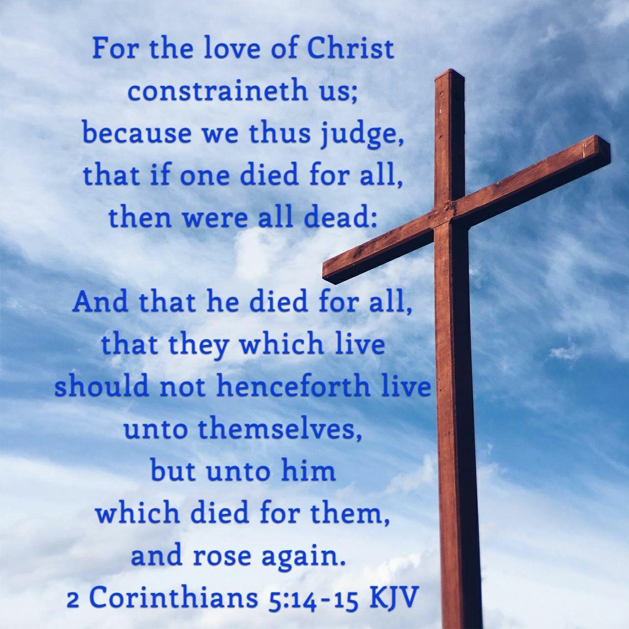 Sword In The Bible Quote: 2 Corinthians 5:14-15 KJV