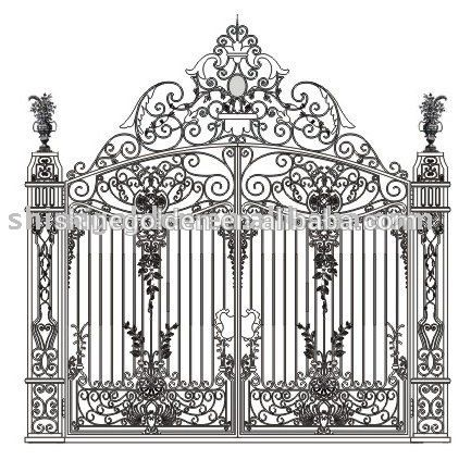 Top Selling Decorative Wrought Imperial Iron Fancy Gates Photo