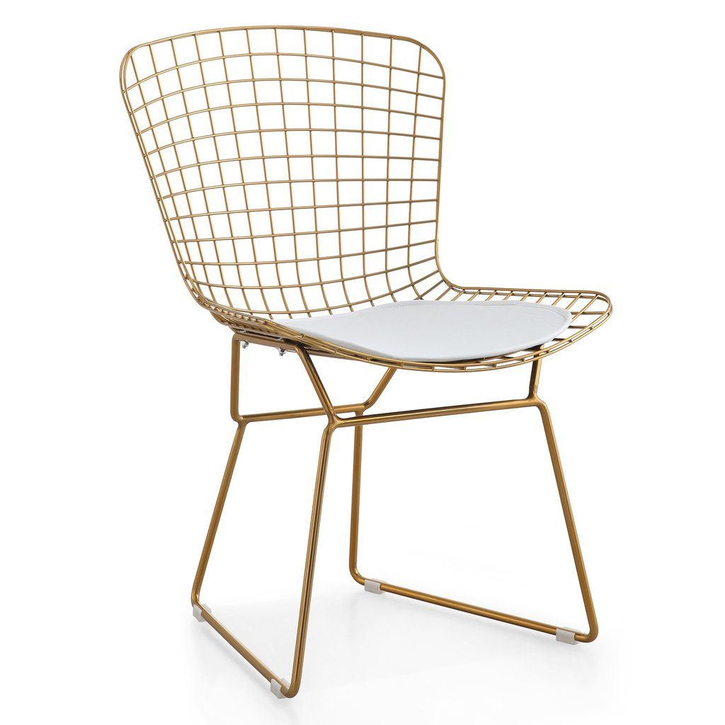Lark manor paras arm chair amp reviews wayfair ca - M38 Gold Wire Chair Set Of Two Color Options