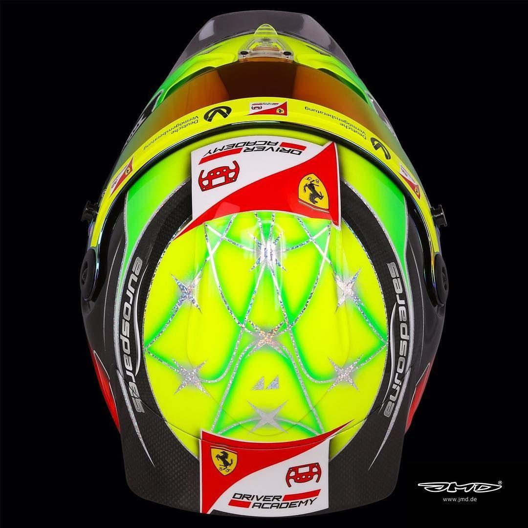 Jmd Jens Munser Designs On Instagram Mick Schumacher S Helmet For The 2019 Fia Formula 2 Championship Sch Fia Formula 2 Championship Helmet Helmet Design