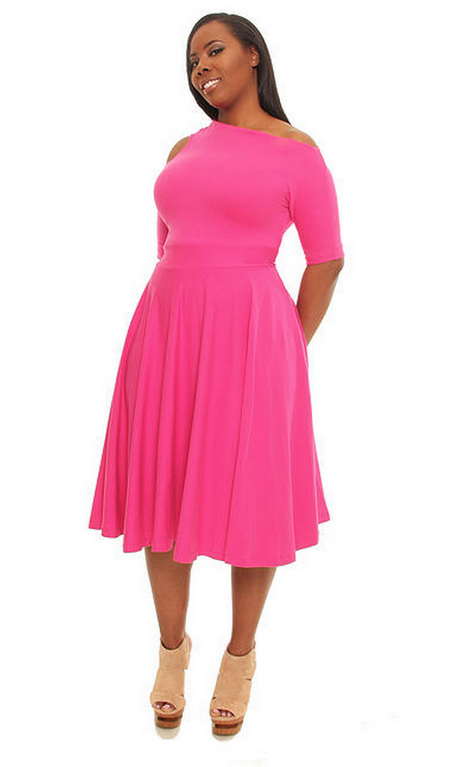 Hot pink plus size dresses | Pink plus size dresses, Plus ...