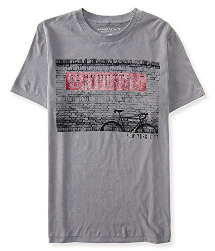 """Aeropostale Men's Aero Street Scene Logo Graphic T Shirt   Aeropostale Men's Aero Street Scene Logo Graphic T Shirt Perfect for casual joy rides and weekend road trips, our Aero Street Scene Logo Graphic T is so ready to hit the pavement! Its brick wall and bicycle imagery pay homage to the Big Apple, while """"Aéropostale New York"""" text rounds it out with classic signature style.  http://www.beststreetstyle.com/aeropostale-mens-aero-street-scene-logo-graphic-t-shirt-2/"""