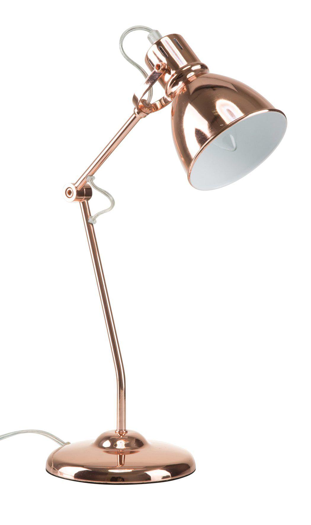 Lampe A Poser Industriel Darwin Cuivre Rose Desk Lamp Table