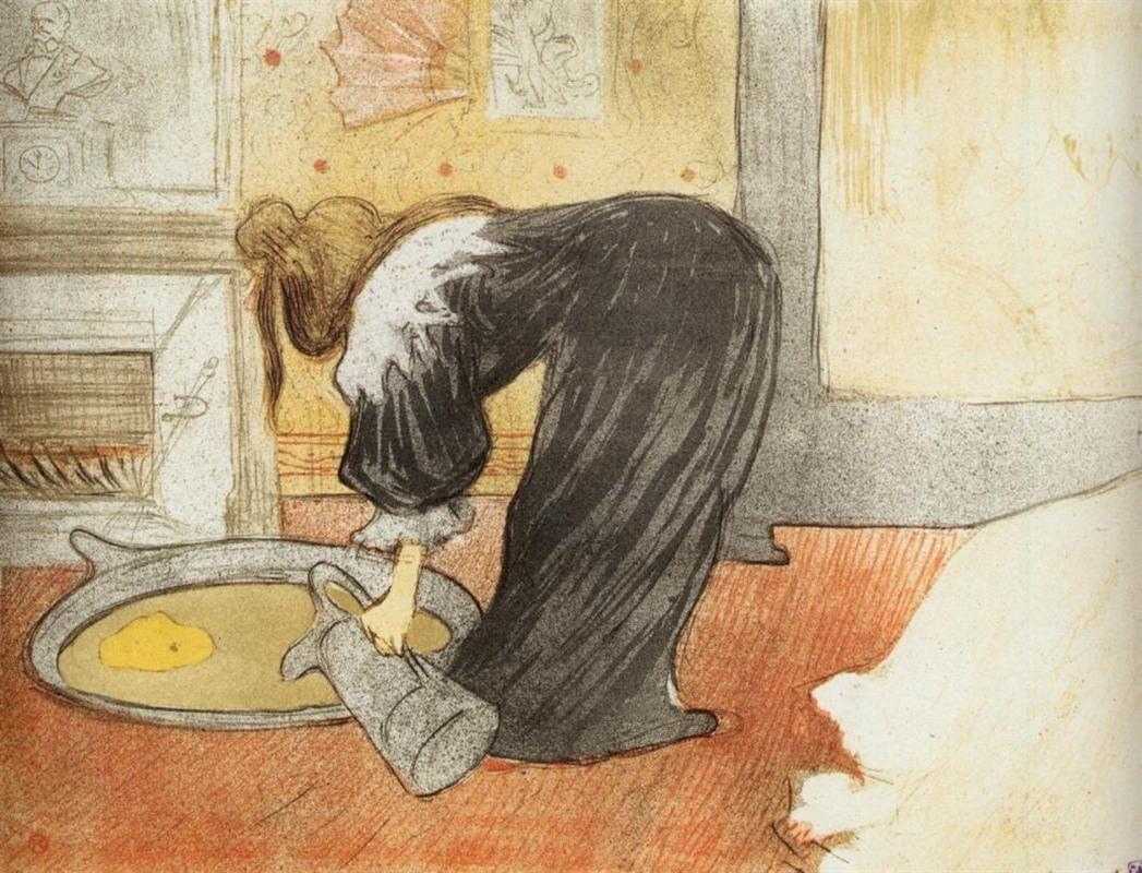 They Woman In Bed Profile Getting Up Toulouse Lautrec Henri De художники тулуза рисовать