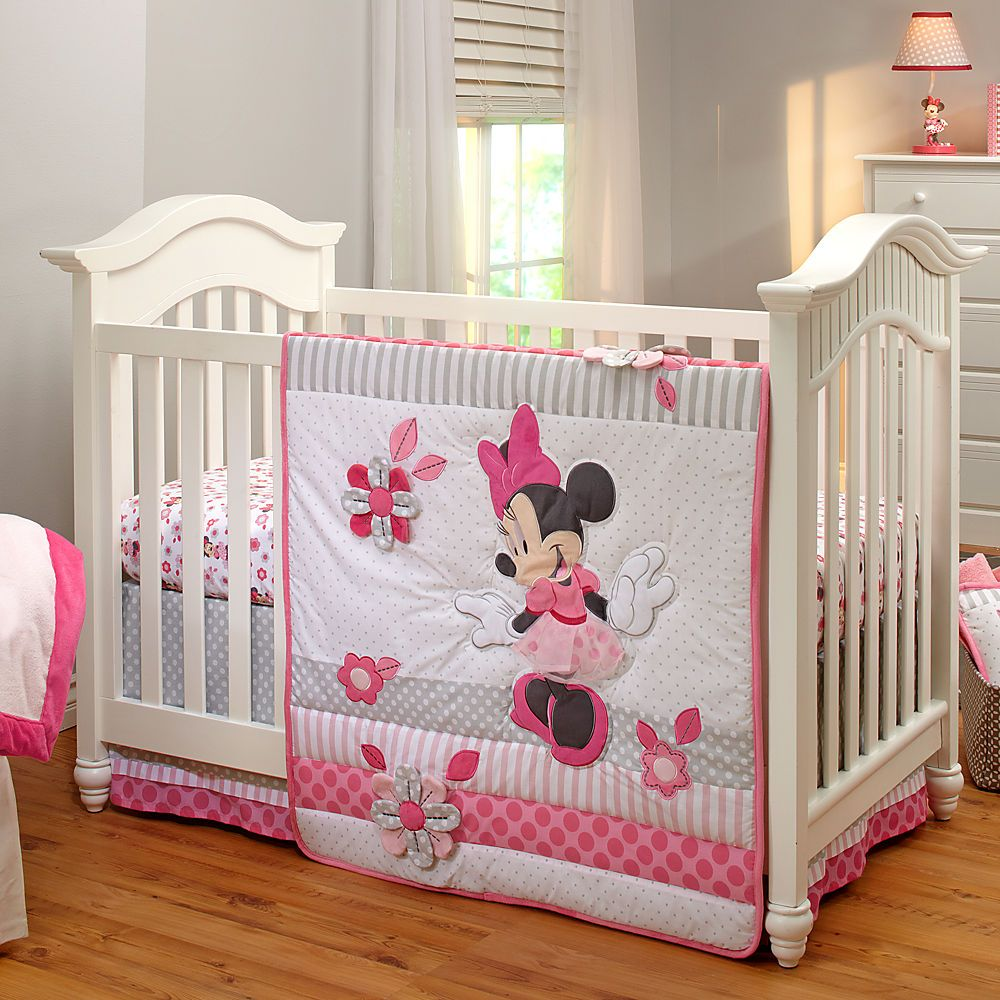 Minnie Mouse Crib Bedding Set For Baby Personalizable Disney