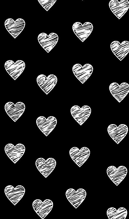 Black And White Hearts Wallpaper Fondos Fondo De