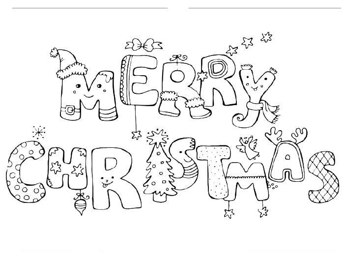 merry christmas or a great letter coloring page christmas coloring pages kidsdrawing free