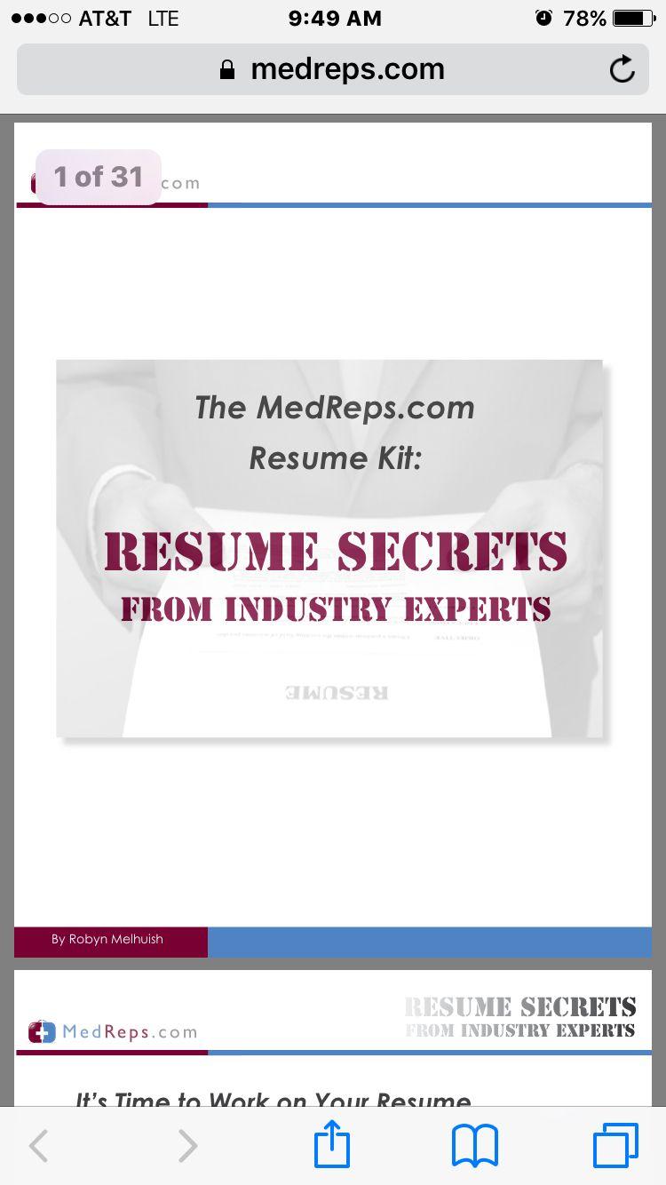 Pdfmedical sales resume tips