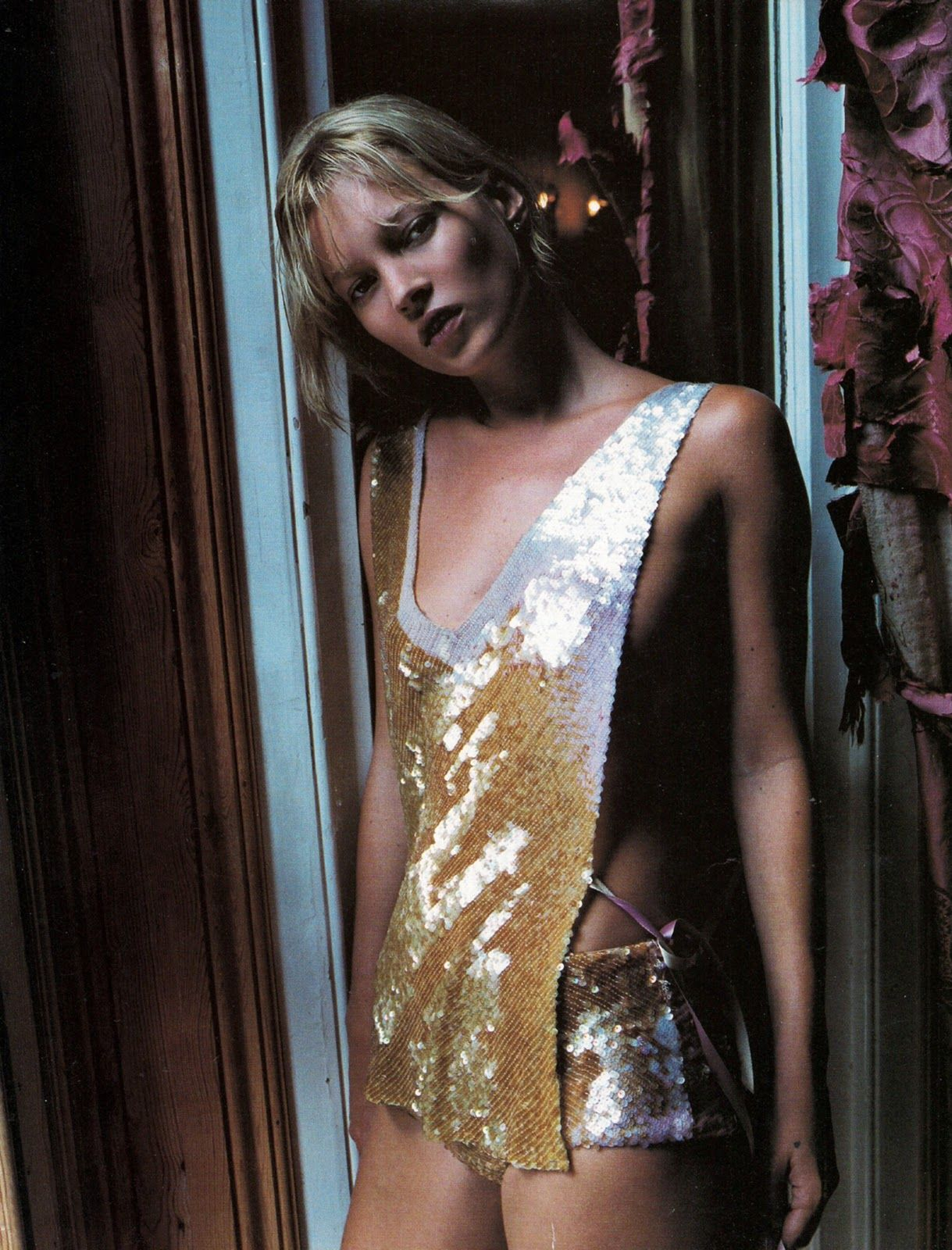 kate moss by corinne day for vogue uk december 2000 http://www.nomad-chic.com/search/index.html?term=gold