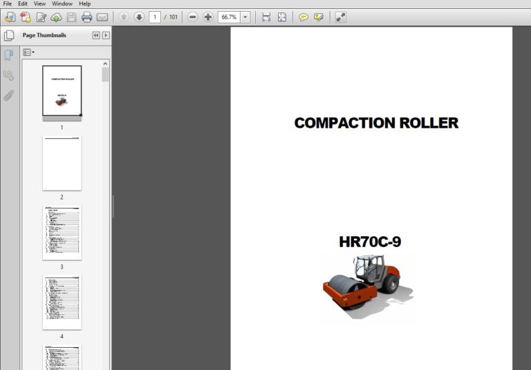 Hyundai Hr70c 9 Road Roller Operator Manual Pdf Download Hyundai Roller Manual