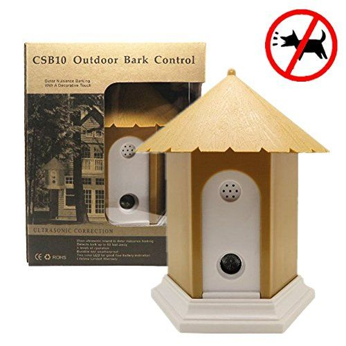Sonic Bark Deterrents Matop Outdoor Ultrasonic Dog Antibark Control Training Birdhouse Box Bark Controller Device So Personalized Dog Collars Stop Dog Barking