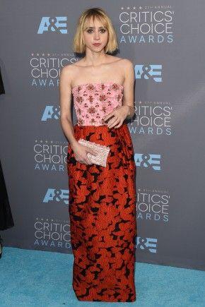Critics Choice Awards 2016 Hairstyles   Zoe Kazan