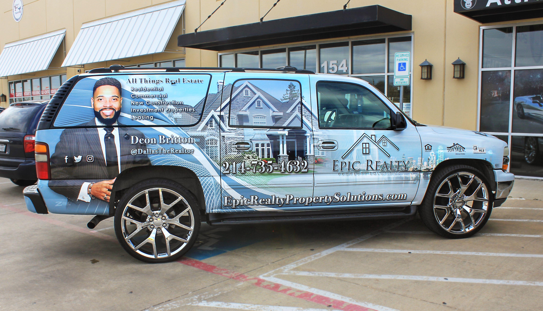 Dallas Realtor Suv Wrap Car Wrap Dallas Fort Worth Van Wrap
