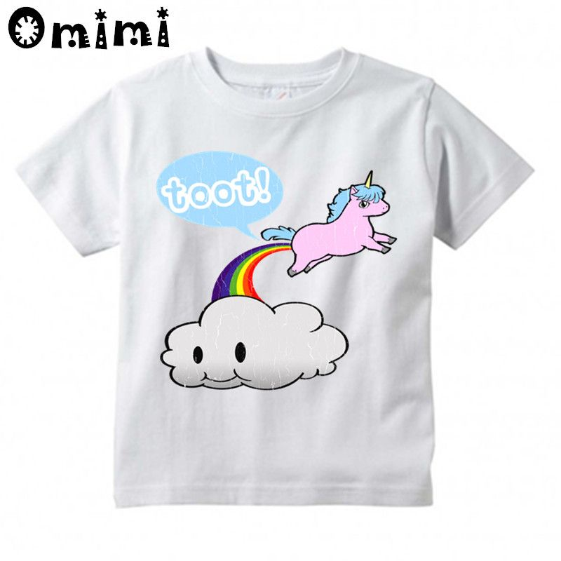 5a12725f Kids Clouds and Rainbow Design T Shirt Boys/Girls Casual Unicorn Tops  Children's Summer White Cute T-Shirt //Price: $19.44 // #baby