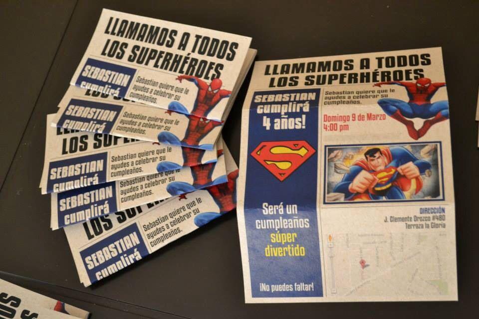Invitación superhéroes