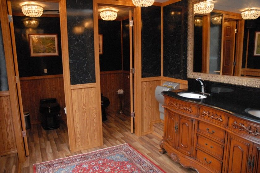 17 best images about luxury event mobile restroom interiors on pinterest toilets parks and outdoor wedding reception regal mobile restroom trailer