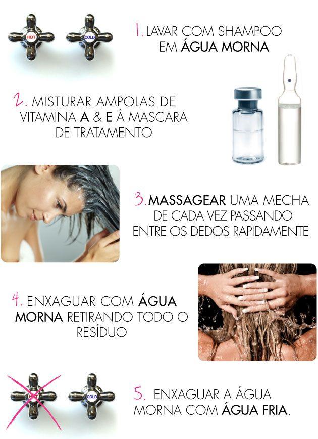 Truques Para Hidratacao Caseira No Chuveiro Mascara Ampola