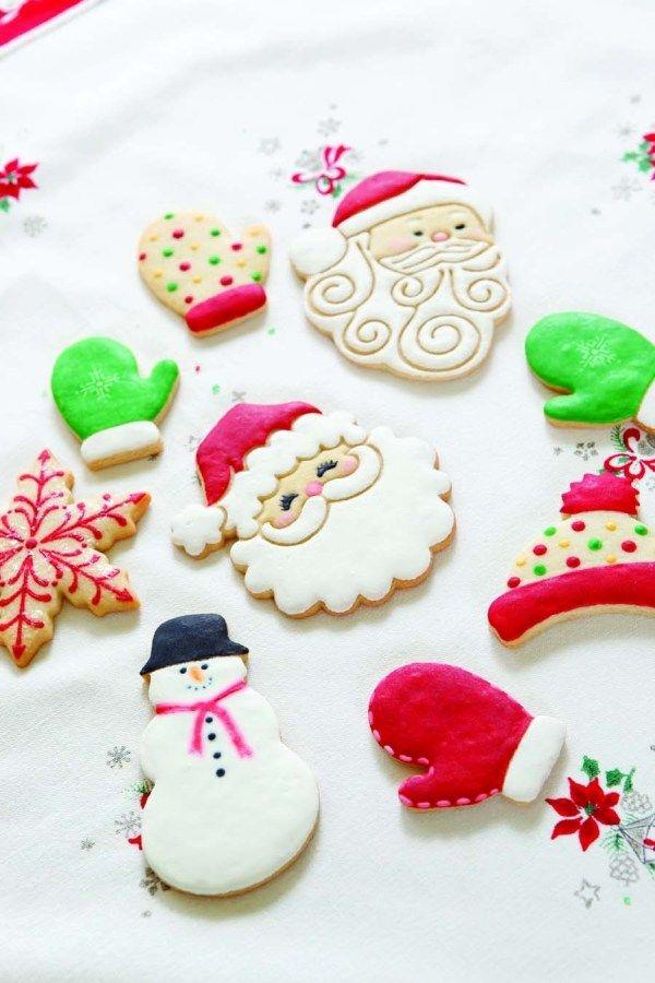 déco des biscuits Père Noël, bonhomme et moufles Plus