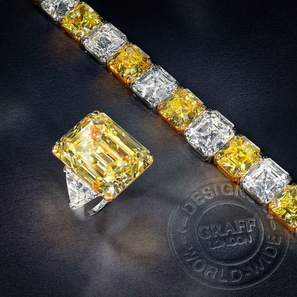 Sortija y pulsera de Diamantes de Graff.
