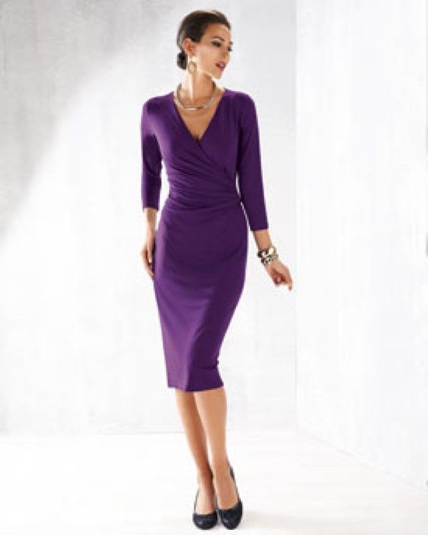 Artigiano Italian Mock Wrap Jersey Dress Purple Size Uk 12 Box46 93 R Fashion Clothing Shoes Accessories Womensclothing Dresses Jersey Dress Purple Dress