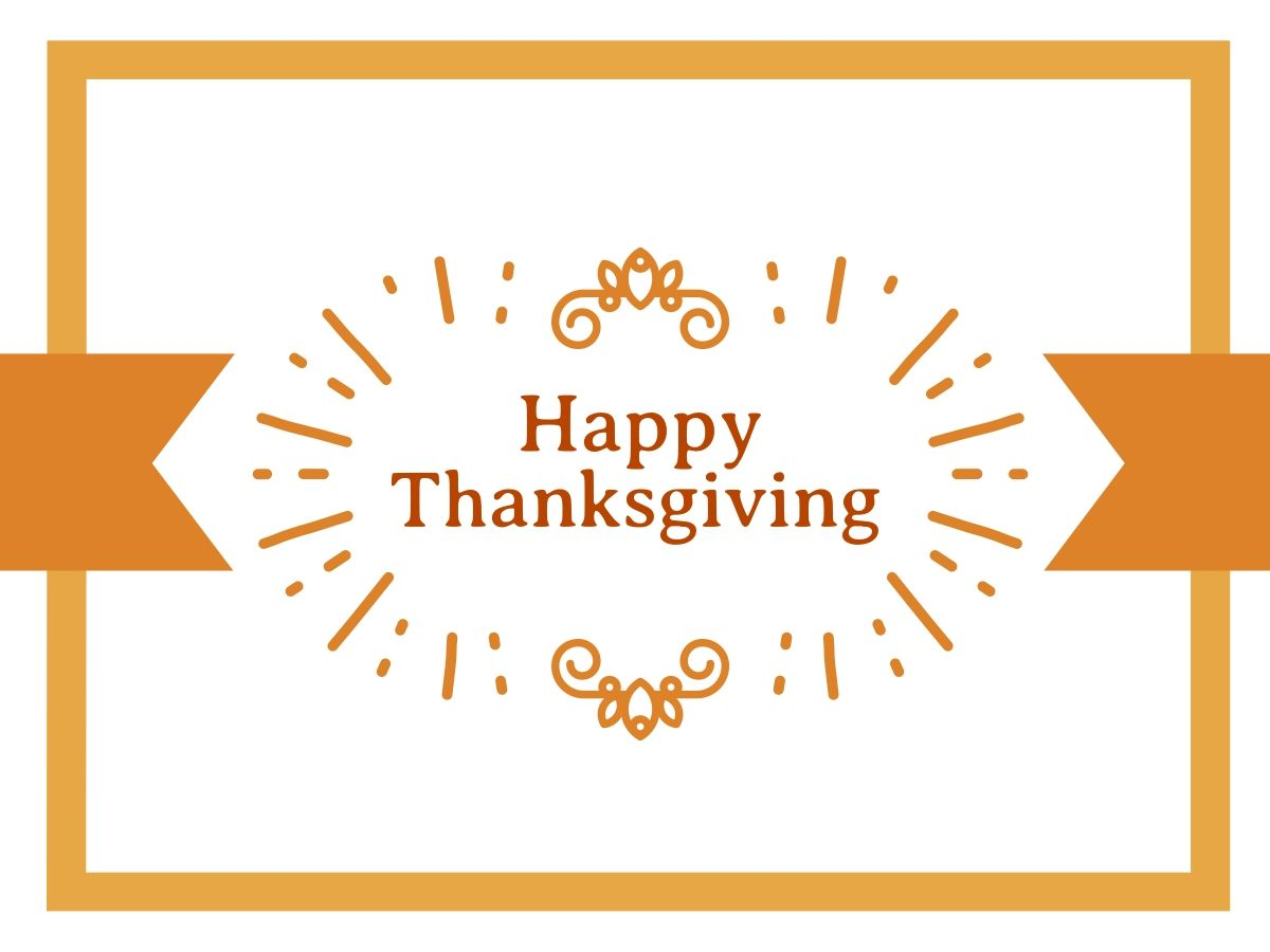 Orange Editable Thanksgiving Card Template For A Facebook Post Happy Thanksgiving Thanksgiving Cards Thanksgiving Greetings Happy Thanksgiving