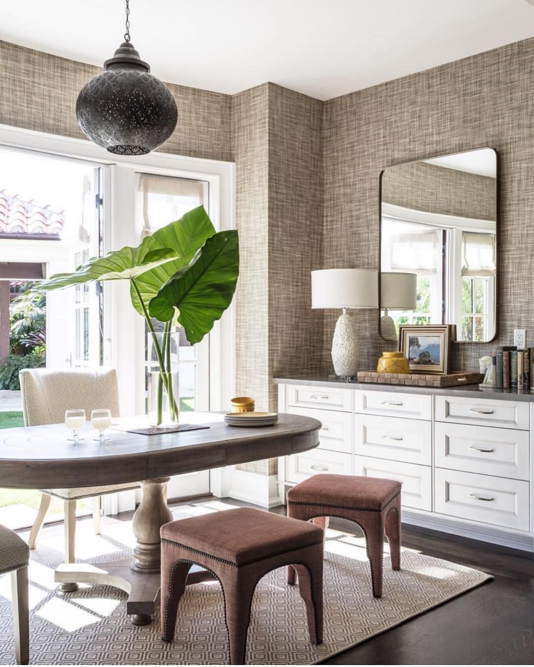 Mirror Image Home On Instagram When Your Room Is Art Add A Mirror Absolutely Love This Placement And All Of The Chic Dining Room Dining Room Design Home