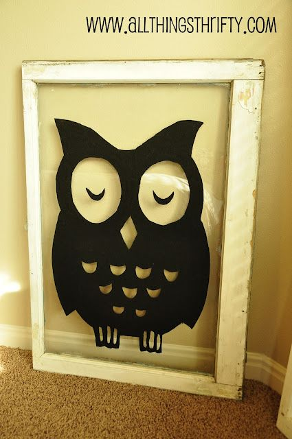 Nursery Decorating Ideas Part 4: Vintage Windows with Owls! | Wall ...
