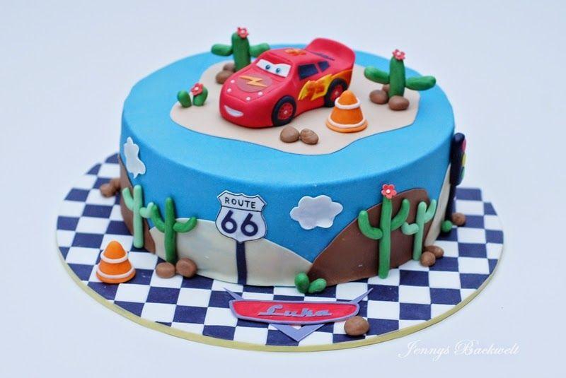 Cars Torte Mit Lightning Mcqueen Kinder Torte