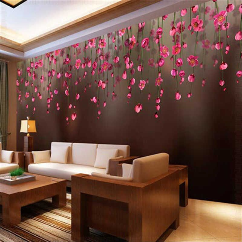 Beibehang Chuihua Rose Custom Papel De Parede Photo Wallpaper 3d Wallpaper Restaurant Sofa Backdrop 3d Wallpaper For Walls 3 D Wallpaper Living Room Wallpaper Decor Living Room Images