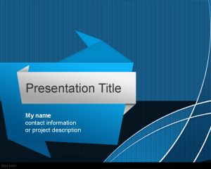 Origami powerpoint template is a free ppt template design for origami powerpoint template is a free ppt template design for powerpoint that you can download and toneelgroepblik Images