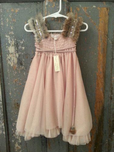 Girls Luna Luna Copenhagen Babette 18 24 Hoilday Dress W Fur New Nwt