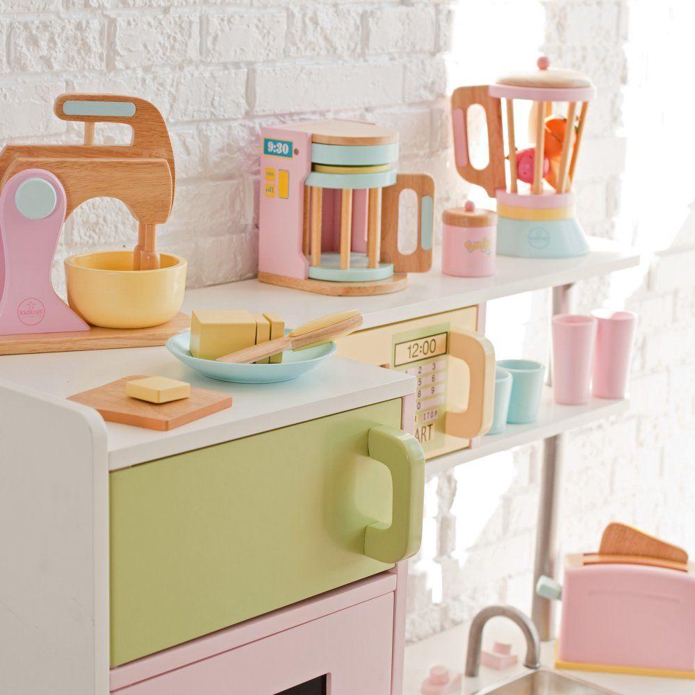 Kidkraft large pastel kitchen  KidKraft  Pack Bundle of Accessories  Play Kitchen Accessories at
