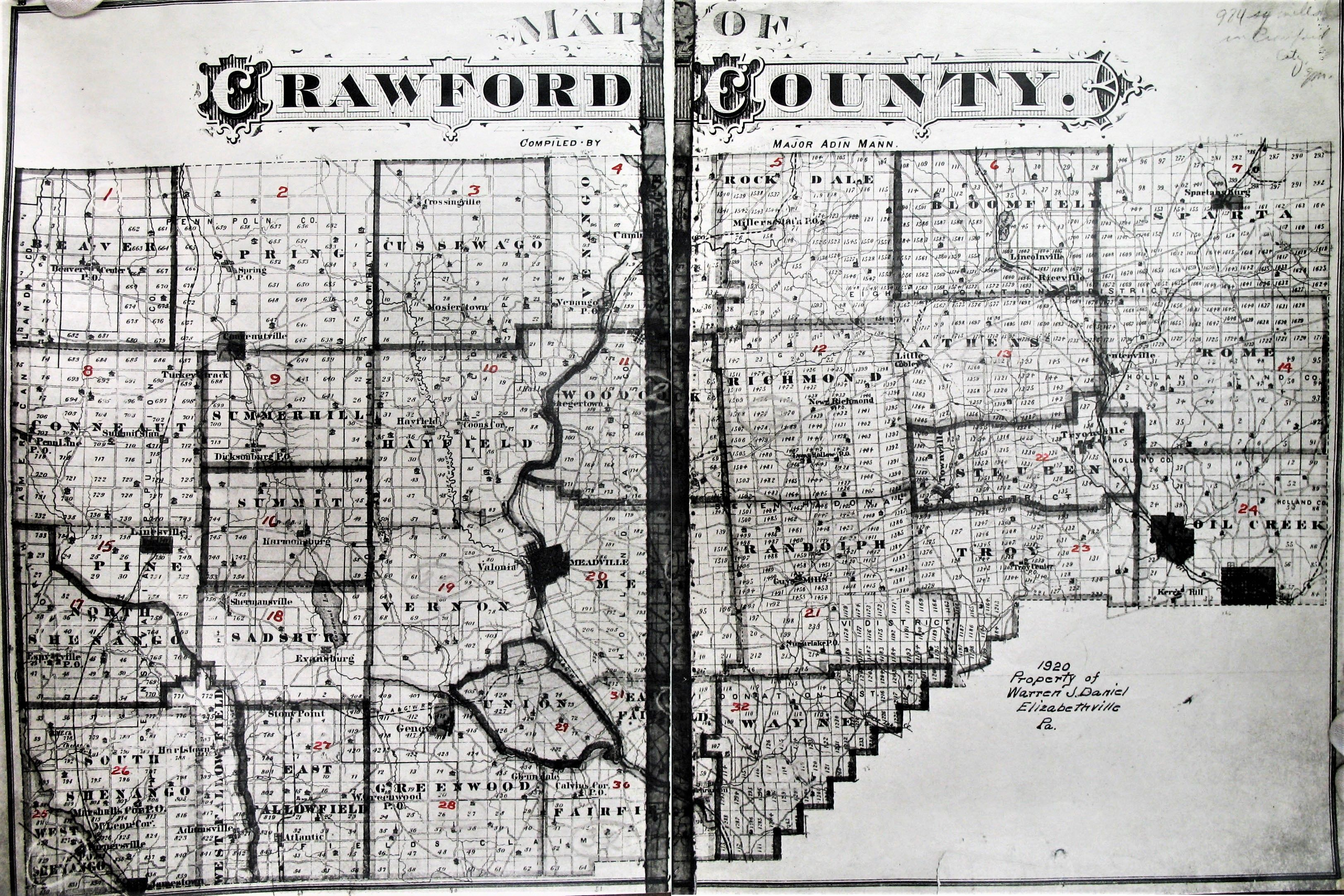 Crawford County Pa Map Family Tree Crawford County