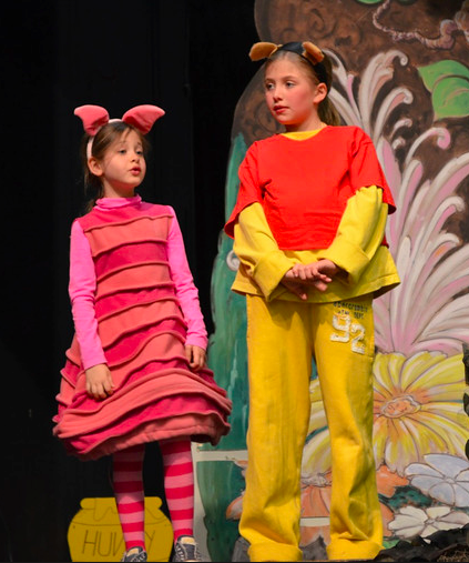 bbf20ac3ff19 Piglet and Pooh bear in Winnie the Pooh kids musical Book Day Costumes,  Theatre Costumes