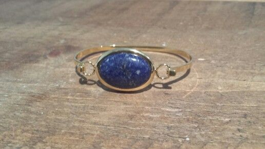 Lapis and Gold plated bangle..from Twisted Designs find us at www.facebook.com/twisteddesignscrafts or www.twisted-designs.co.uk