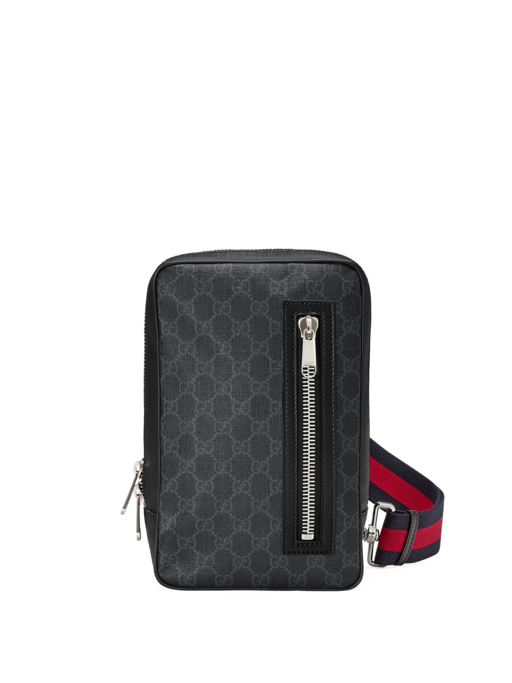 c8dc89382d051 Gucci GG Supreme Sling Backpack   Bags   Bags, Sling backpack, Backpacks