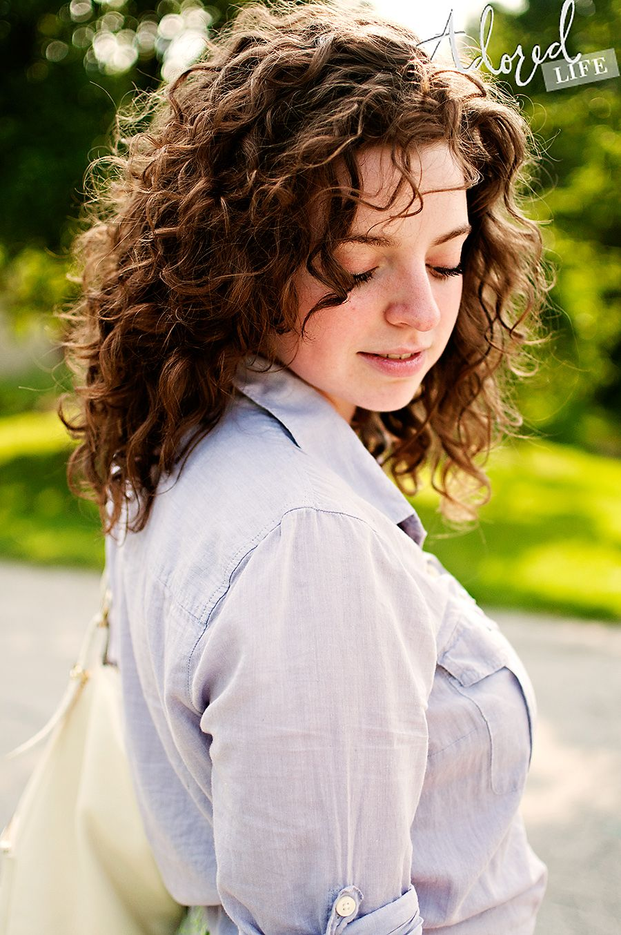 Just A Touch Totally Me Pinterest Curly Medium Length Curly