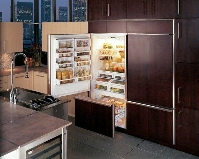 ms de 25 ideas increbles sobre frigorificos integrables en pinterest decoracin de cocina verde azulada partes de refrigerador lg y cocinas integrales - Frigorificos Integrables