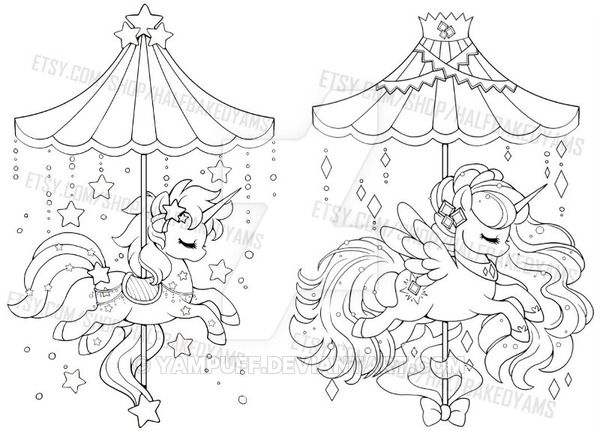 Celestial Carousel Alicorn And Unicorn Unicorn Coloring Pages Heart Coloring Pages People Coloring Pages