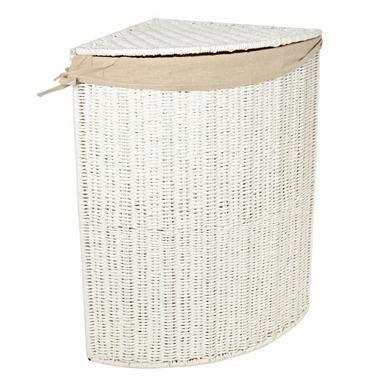 White Rope Corner Laundry Basket Corner Laundry Basket Storage