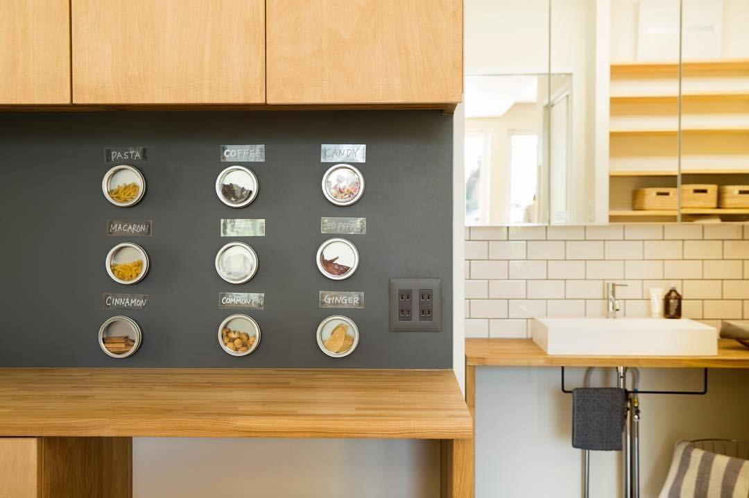 キッチンキカウンター ガルバを貼ってるから 磁石がくっつきます