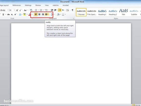 The Easy Way To Set Alignment In Microsoft Word  Basic Ms Office