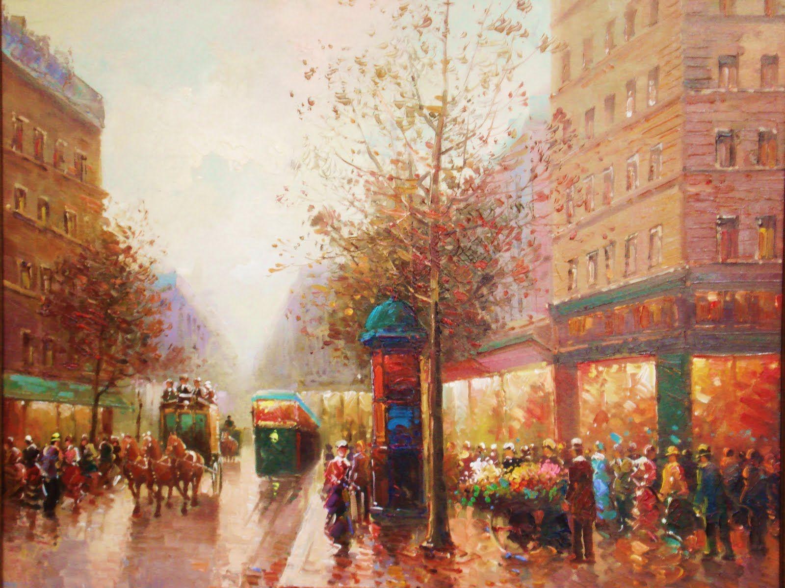 Morantz Galleries: Paris Street Scene II by Pencke - Oil Painting