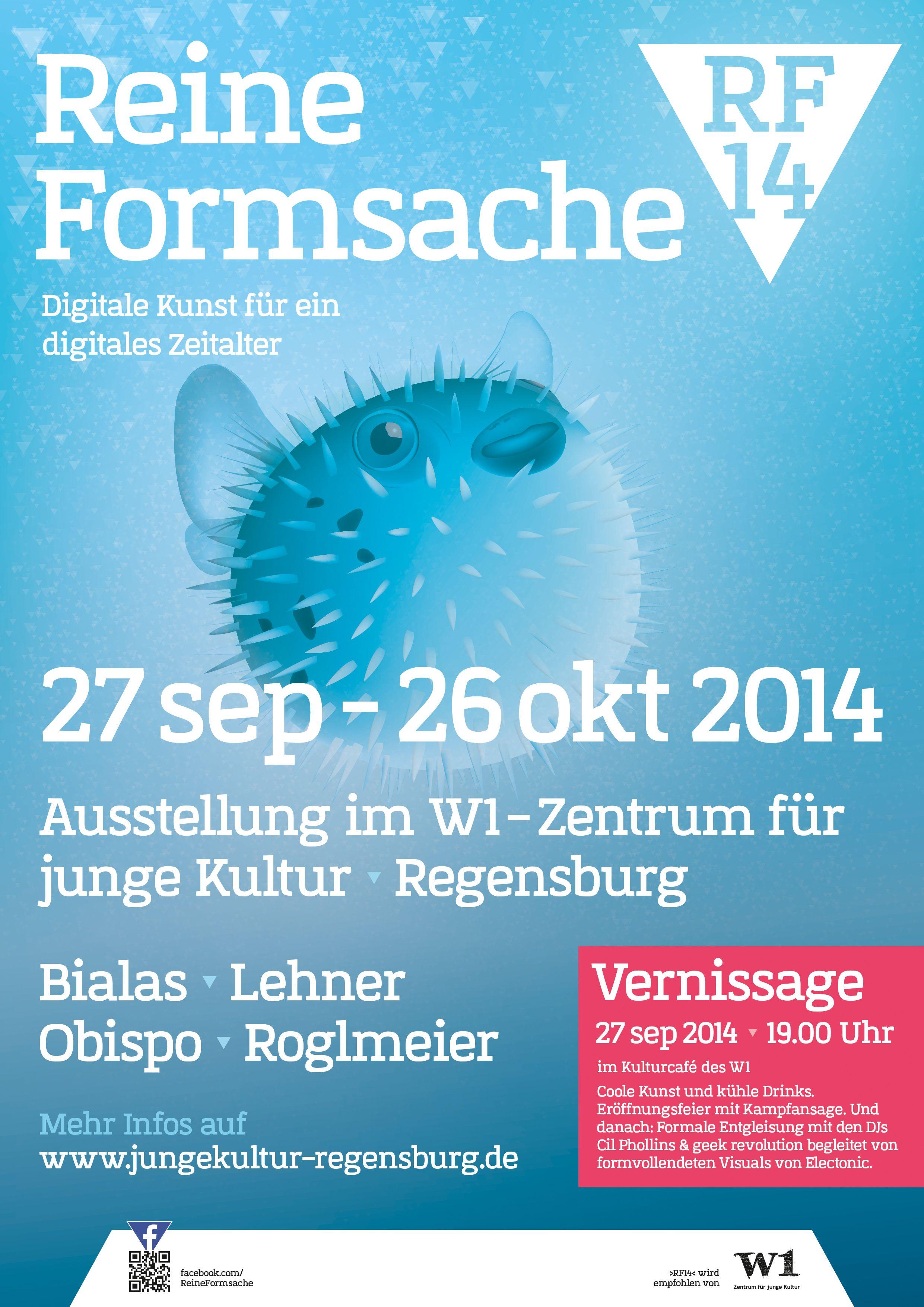 """Offizielles Plakat für die Ausstellung """"Reine Formsache 14"""" in Regensburg (www.facebook.com/ReineFormsache) Digital ist besser, Baby!  #rf14 #ausstellung #digital #kunst #w1 #regensburg #poster #plakat"""