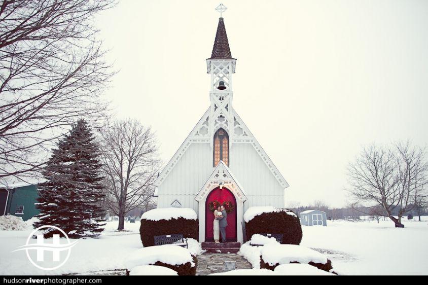 Hudson Valley Winter Wedding St Lukes Church In Clermont New York Photo