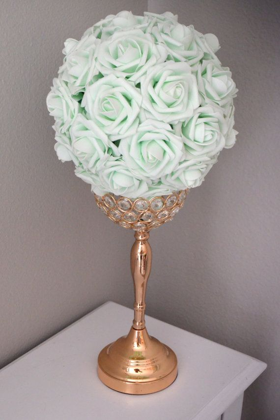 LIGHT MINT  Kissing Ball. Wedding Centerpiece. by KimeeKouture